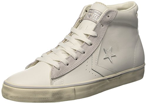 Mid Turtledove Sneaker White Uomo Star Bianco Converse a Star Collo Mouse PRO Leather Alto OqE441