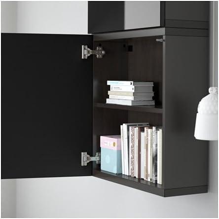 IKEA bestå armario de pared con 2 puertas, marrón, selsviken ...