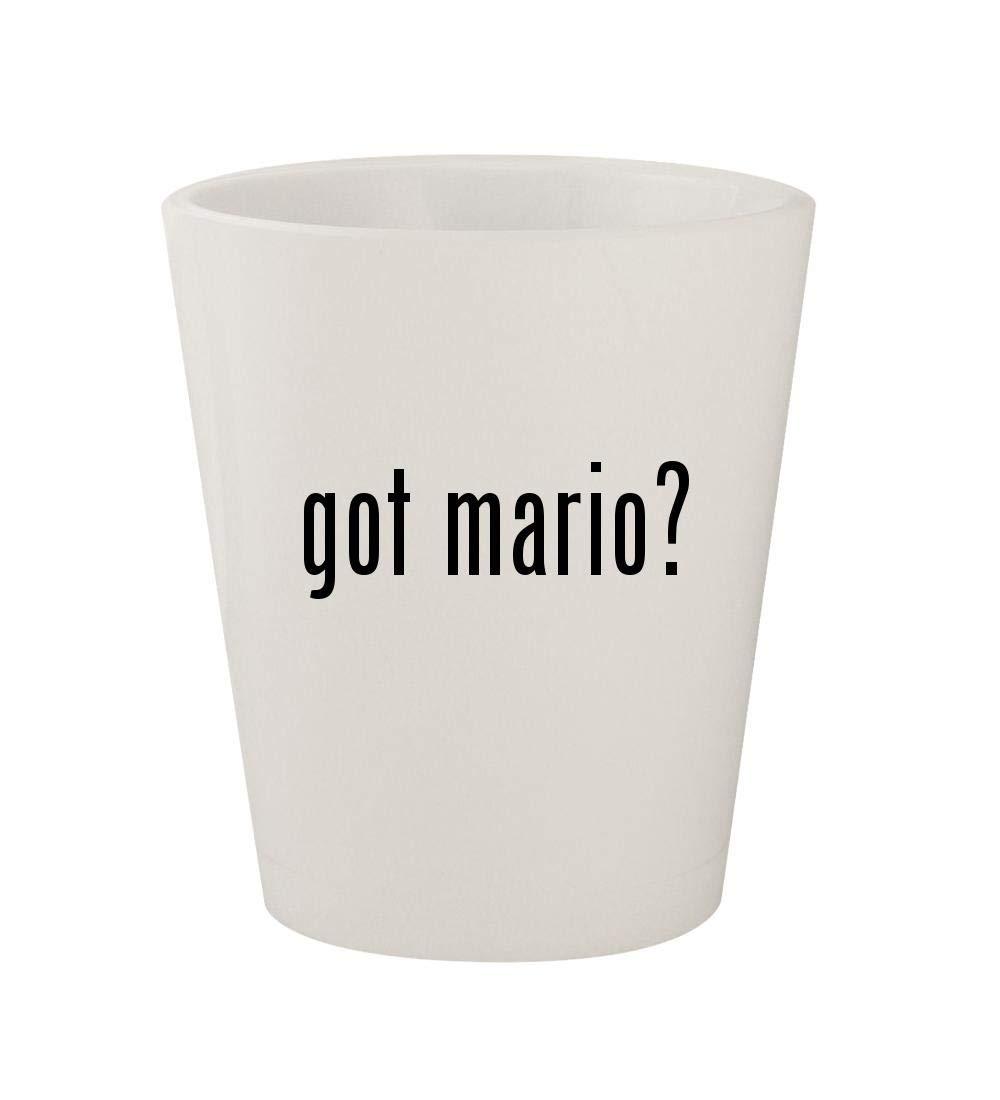 got mario? - Ceramic White 1.5oz Shot Glass