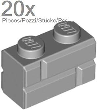 20 NEW LEGO Brick Modified 1 x 2 Masonry Profile Brick Profile Med Dark Flesh