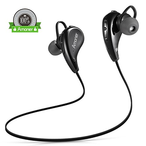 amoner wireless bluetooth headphones sport earbuds stereo import it all. Black Bedroom Furniture Sets. Home Design Ideas