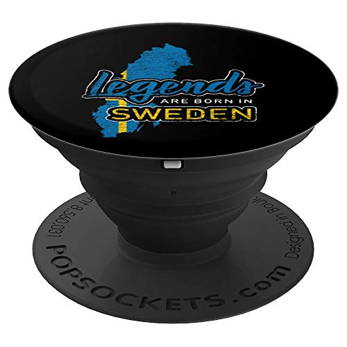 Legends Are Born In Sweden Pop Socket - Scandinavia - PopSockets Grip and Stand for Phones and Tablets