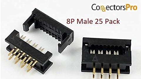 100Pcs 2.54mm 2x4 Pin 8 Pin Straight Male Shrouded PCB Box header IDC Socket