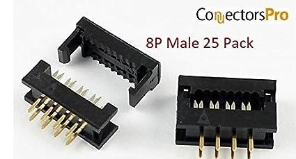 0.1-1st CLASS POST 2.54mm 5x 16 Way PCB Header Socket