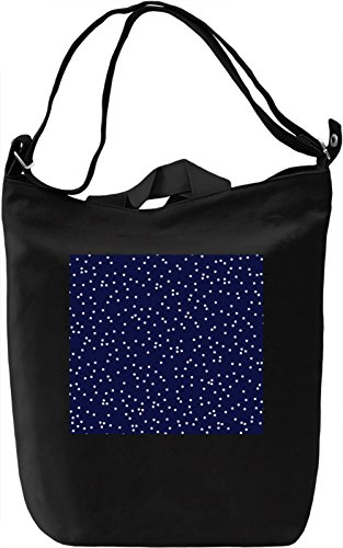 Stars in a Blue Sky Print Borsa Giornaliera Canvas Canvas Day Bag| 100% Premium Cotton Canvas| DTG Printing|