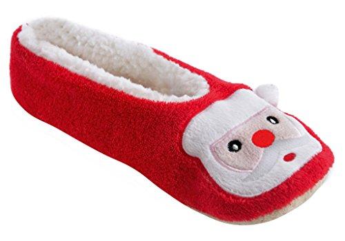 SlumberzzZ Weihnachtsmann -Damen-Ballett-Pantoffel