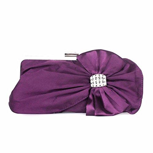 tie Lady Lady Handbag Violet Lady Sweet Bow Blue Bag Bag Uxq6nECFw