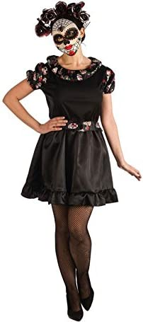El Rey del Carnaval Disfraz de Catrina Negra para Mujer: Amazon.es ...