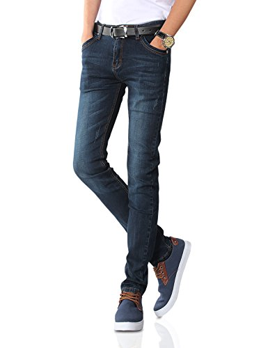 Demon&Hunter 808 Series Men's Skinny Slim Jeans DH8058(35)