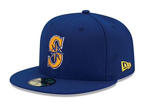 2 Mens New Era Hat - New Era Cap Co,. Inc. Men's 70360955, Blue, 7.5