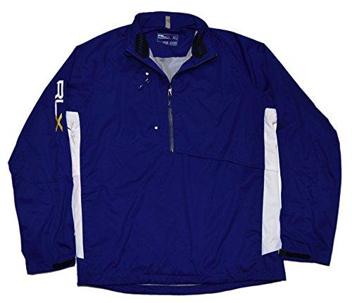 Polo Ralph Lauren Men RLX Golf Pullover Half-Zip Water Resistant Jacket Blue XXL Shell Half Zip Mens Pullover