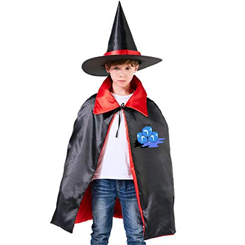 Kids Ice Cube Halloween Party Costumes Wizard Hat Cape Cloak Pointed Cap Grils Boys -