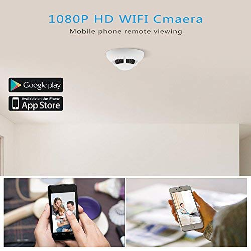 Amazon.com : HD 1080P Wi-Fi Hidden Camera - Aisoul Spy Camera Detector Real-time Live Video Motion Detection Alarm Micro SD Card Loop Recording Smartphone ...