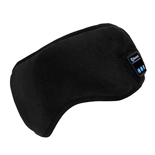 Bluetooth Sleeping Eye Mask | Sleep Headphones, LUXISE Wireless Bluetooth Headphones Music Travel Sleeping Headset 4.2 Bluetooth Handsfree Sleep Eye Shades Built-in Speakers Microphone