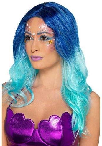 Mujer SIRENA Mítico Criatura Marina Maquillaje Pintura facial Gemas festival carnaval disfraz Kit de accesorios: Amazon.es: Productos para mascotas