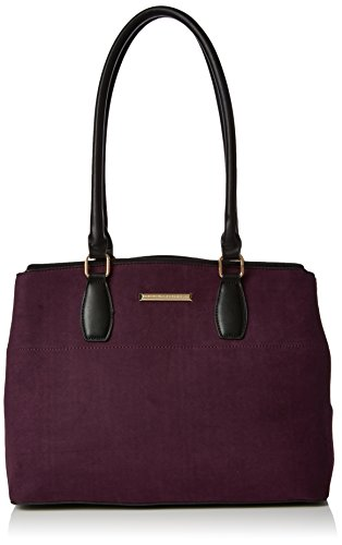 Dorothy Perkins Double Zip - Borse Tote Donna, Red (Berry), 41x27x41.5 cm (W x H L)