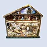 Kurt S. Adler Wooden 24 Days Nativity Advent Calendar Music Box 20-Inch X 4.5-Inch X 19-Inch, O Little Town of Bethlehem