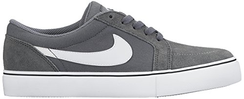 Nike Herren Satire II Low Top Lace Up Skateboardschuhe Grau weiß