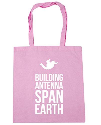 HippoWarehouse - Bolsa de playa de Algodón  Mujer Rosa