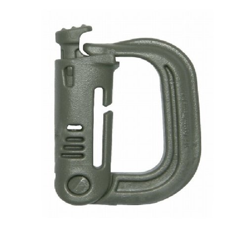 - Maxpedition Gear GRMLG Foilage Green Grimloc Locking D-Ring (Pack of 4)