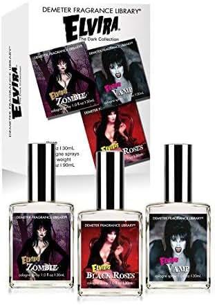Demeter Fragrance Library - Elvira 3 Piece 1oz Cologne Set - Black Roses, Vamp, and Elvira