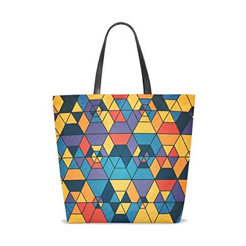 Geometric 001 Tote Unique Femme Color Cabas Pour Bennigiry Taille 5ZxdAYwx