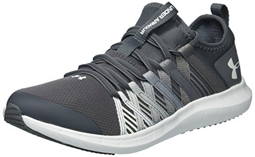 Under Armour Girls' Grade School Infinity Sneaker, Graphite (102)/Zinc Gray, 7