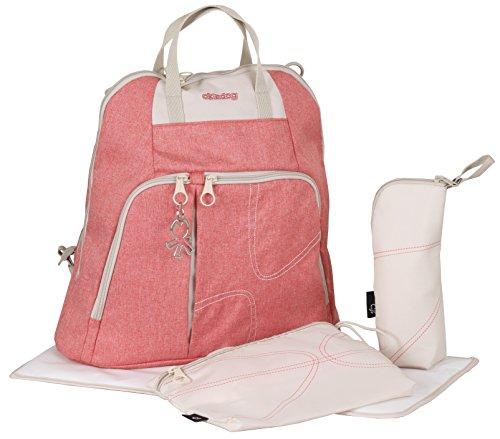 okiedog TREK 37013 bolsa de pañales Mochila incl. accesorios URBAN, jeans URBAN coralle