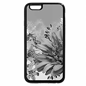 iPhone 6S Case, iPhone 6 Case (Black & White) - Bright Beautiful Blues