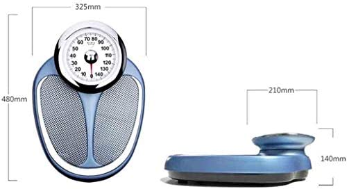 Pure Mechanical Bathroom Scales Step-on Easy to Read Magnified Display for Weighing with Precision, Comfortable Cushioned Platform, No Batteries