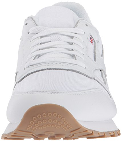 Reebok Heren Cl Lederen Estl Sneaker Wit / Skull Grey / Washed Blue