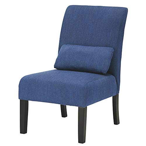 Ashley Furniture Signature Design - Sesto Accent Chair w/ Pillow - Contemporary - Blue - Black Finish Legs (Pillow Contemporary Blue)