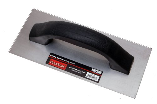 "Plextool Economy Finishing Trowel- Square Notch (1/16"" X 1/16"")"