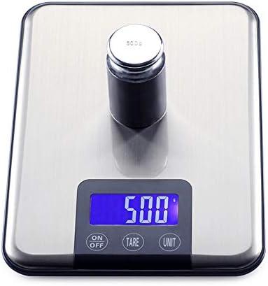 QIQIDEDIAN 台所スケール食品スケール栄養分析スケールステンレススチール液晶ディスプレイシルバー防水 (Size : 5kg/1g)