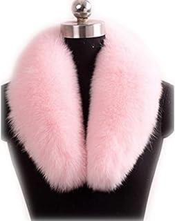 GEGEFUR Real Genuine Fox Fur Winter Collar Scarves Scarf Wrap Neck Warmer