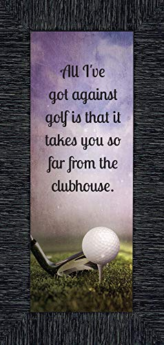 (Golf, Funny Golf Gifts for Men Picture Frame, 6x12 7367CH)