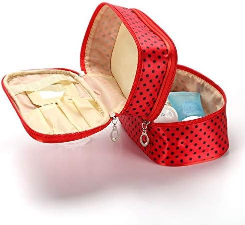 化粧品袋 多機能化粧品収納袋シンプルなデザインのポータブルトラベルコスメティックバッグ軽量ポータブル大化粧ケース 旅行化粧収納ボックス (Color : Black white)