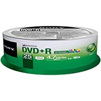Sony 25DPR47PP DVD+R Recordable and Ink-Jet Printable (25 Disc Spindle)
