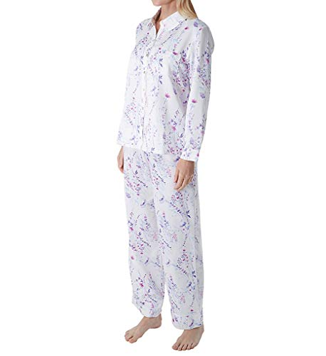 Carole Hochman Women's Brushed Back Satin Pajama Set, Watercolor Floral, S ()