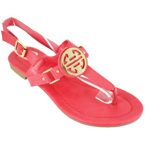 Women's Flat Breckelle Pomegranate 22 Sally Breckelle Sandals Women's Sally SFqnTxw