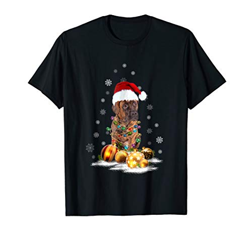 (Plott Hound Christmas Dog Light T-Shirt)