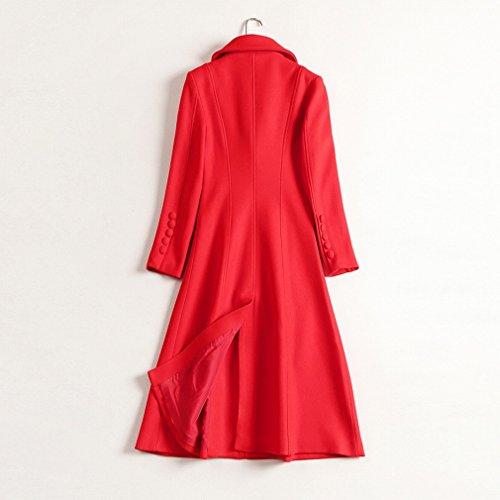 de Long Self Cultivation Manteau Manteau Femmes Hiver des Rouges Veste de Mode de Et Laine de TDDT tait Modles Mince Rouge Genoux Automne de wq8Xxqz7