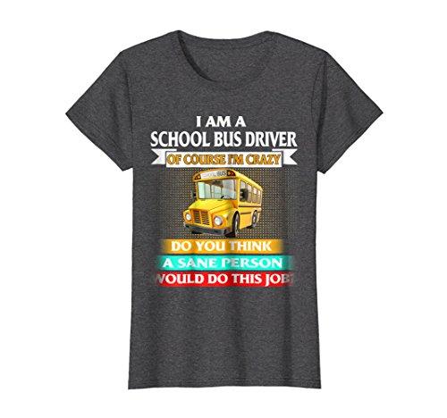 Womens School Bus Driver T shirts XL Dark Heather