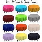 12-Pack Premium Plastic Tablecloth 84in. Round