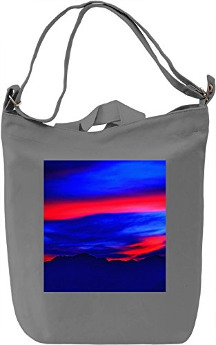 Abstract Sky Pattern Borsa Giornaliera Canvas Canvas Day Bag| 100% Premium Cotton Canvas| DTG Printing|