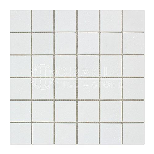 Thassos White Greek Marble 2 X 2 Mosaic Tile, Polished -
