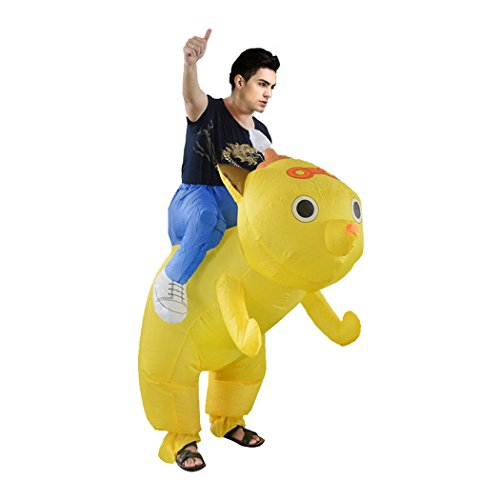Inflatable Costume Cosplay Halloween Costume Piggyback Ride On Riding Shoulder Costumes Fancy Dress Costume Novelty Funny Inflatable Suit For Adult/Child (Drunk Dog)
