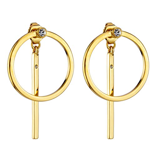 OMC Jewelry 10K Gold Plated Vertical Bar Dangle Earrings -