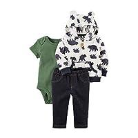 Carter's Baby Boys 3 Piece Bear Print Little Jacket Set 6 Months