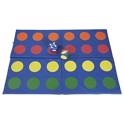 ECR4Kids SoftZone Rainbow Dot N' Roll Activity Mat - Fun Active Play Game for Kids and Families by ECR4Kids